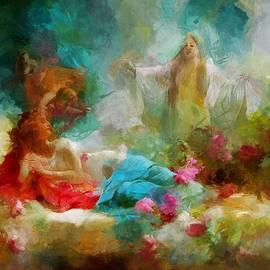 Angel visitation by Mario Carini