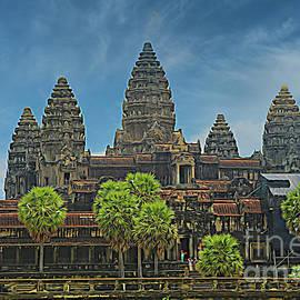 Angkor Wat Temple Digital Art  by Chuck Kuhn