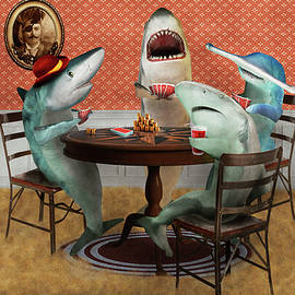 Animal - Fish - Card Sharks by Mike Savad