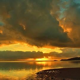 Anini Beach Sunrise Explosion by Stephen Vecchiotti