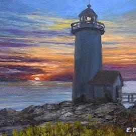 Annisquam Light Sunset by Eileen Patten Oliver