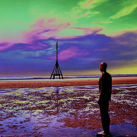 Another Place an art installation by Anthony Gormley Crosby Beachy Anthony  by Michael Walters