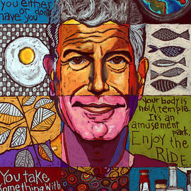 Anthony Bourdain Collage  by David Hinds