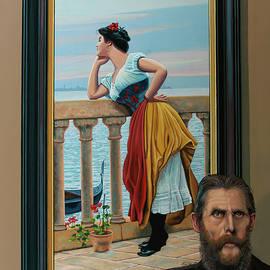 Anticipation of Eugene de Blaas Painting by Paul Meijering