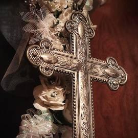 Antique metal cross by Marie-Elaina Reichle HCA CPhT