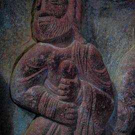 Apostle - 12th century Romanesque monastic sculpture by Master of San Juan de la Pena, Huesca, Spain by Terence Kerr