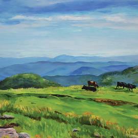 Appalachian Cows by Sandy Herrault