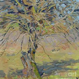 Apple tree. April by Simon Kozhin