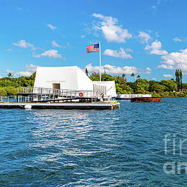 Approaching the USS Arizona Memorial by Phillip Espinasse