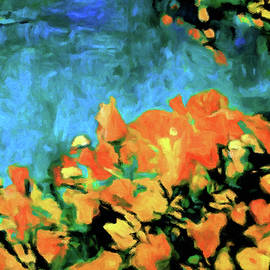 Apricot Orange Poppies by Susan Maxwell Schmidt