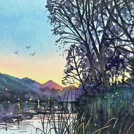 April Dusk Malibou Lake by Luisa Millicent