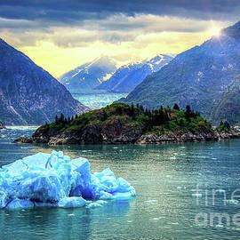 Sawyer Glacier Aqua Iceberg  by Michele Hancock