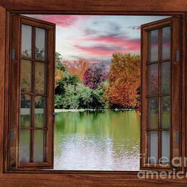 Aragon Mill Pond Early Fall by Gary Shindelbower