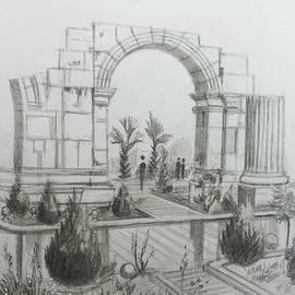 Arc de Triomphe - Damascus by Mohammad Hayssam Kattaa