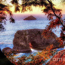 Arch Rock Oregon  At Golden Hour by Michele Hancock
