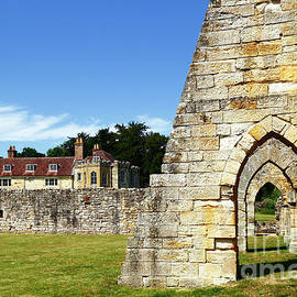 Arches and Portals Bayham Abbey UK by James Brunker