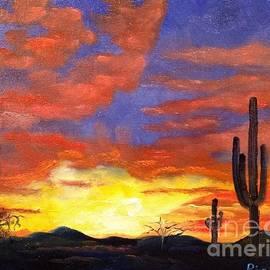 Arizona Desert Sunset by Lee Piper