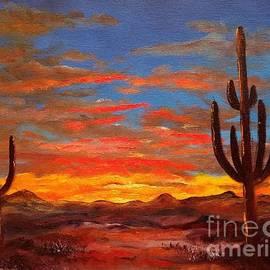 Arizona Saguaro Sunrise by Lee Piper