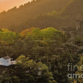 Arouce Castle at sunset in Lousa by Angelo DeVal