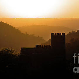 Arouce Castle Silhouette at Sunset by Angelo DeVal