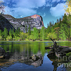 Artistic Yosemite National Park Mirror Lake Color by Chuck Kuhn