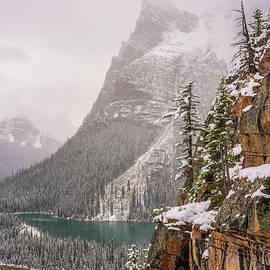 Ascending to Opabin Prospekt Canadian Rockies by Mike Reid