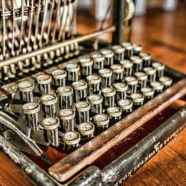 ASDF Typewriter Keys by Sharon Popek