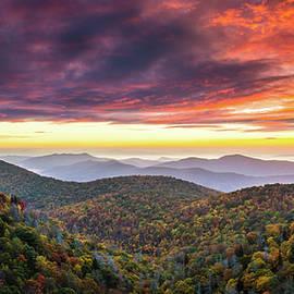 Asheville NC Autumn Sunrise Appalachian Mountains Blue Ridge Parkway Fall Landscape Photography by Dave Allen