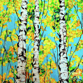 Aspen Gold Autumn Trees Rocky Mountains Jackie Carpenter by Jackie Carpenter