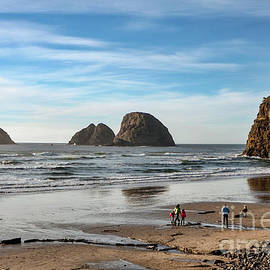 At The Beach - Oceanside - Oregon by Artistic Oregon Photo