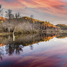 At the Lake in the Setting Sun by Debra and Dave Vanderlaan