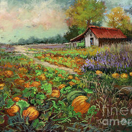 At the Pumpkin Patch by Dianne Parks