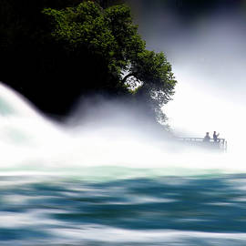 At the Rhine Fall by Angelika Vogel