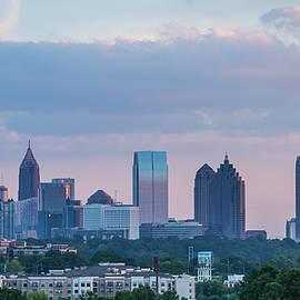 Atlanta GA Sunset Architectural Skyline Cityscape Art by Reid Callaway