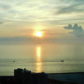 Atlantic Ocean Sunrise by Arlane Crump