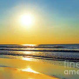 Atlantic Ocean Sunrise NJ Shore  by Regina Geoghan