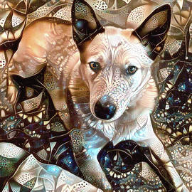 Atlas the Red Heeler Dog by Peggy Collins