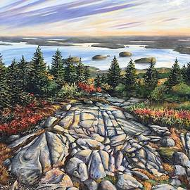 Atop Cadillac Mountain by Eileen Patten Oliver