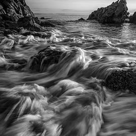 August Tides in Ogunquit in Black and White by Kristen Wilkinson