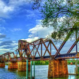 Augusta GA IronMan 2 6th Street Trestle Bridge Landscape Architectural Art by Reid Callaway
