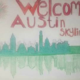 Austin City Skyline In Christmas New Year Color Inspiration GG by GG Bailey Artwork 48
