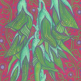 Australian Bird Flower, Decorative Painting by Julia Khoroshikh