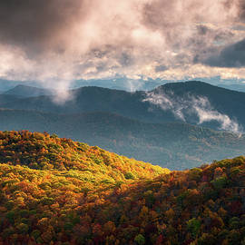 Autumn Appalachian Mountains NC Scenic Blue Ridge Parkway North Carolina Landscape by Dave Allen