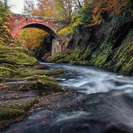 Autumn at Gannochy Bridge by Dave Bowman