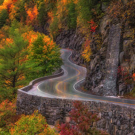 Autumn At Hawks Nest Road  by Susan Candelario