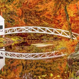 Autumn at Somesville Bridge, Mount Desert, Maine by Kay Brewer