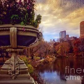 Autumn Begins - Central Park Bow Bridge by Miriam Danar