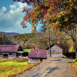 Autumn Colors at the Barns by Debra and Dave Vanderlaan