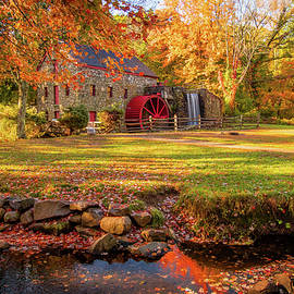Autumn comes to Wayside Grist Mill by Jeff Folger