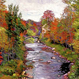 Autumn Days At The River by David Lloyd Glover